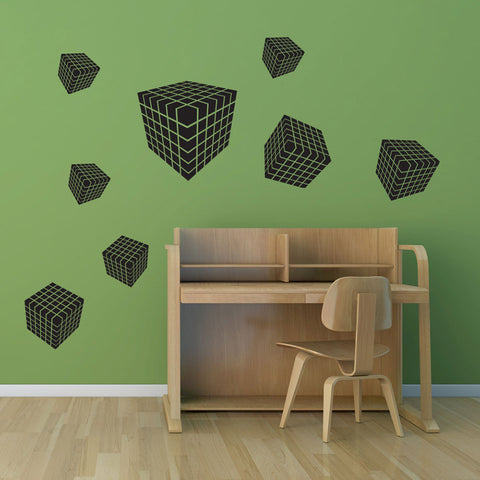 3D Dice-Wall Decal