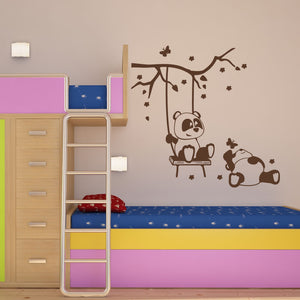 Panda Friends II-Wall Decals-Style and Apply