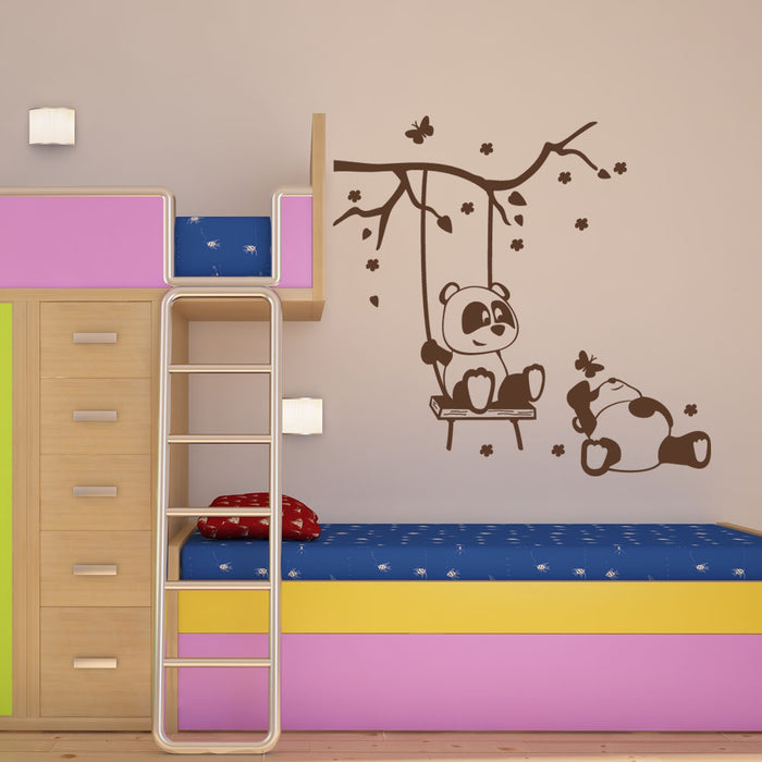 Panda Friends Wall Decal