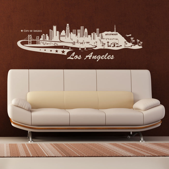 Los Angeles City Skyline Wall Decal