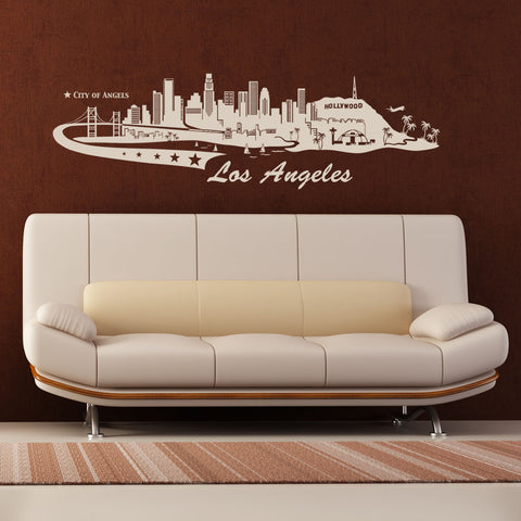 Los Angeles Skyline Decal-Wall Decals-Style and Apply