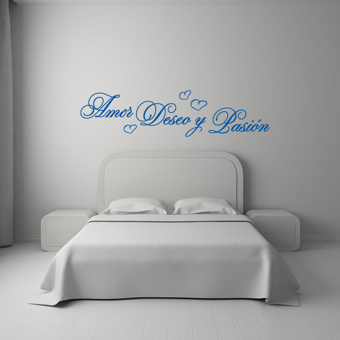 Amor, Deseo y Pasion Wall Decal