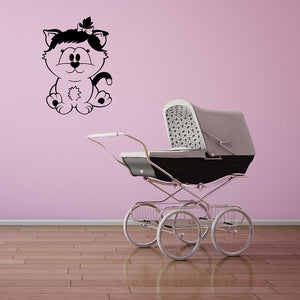 Baby Cat Wall Decal-Wall Decals-Style and Apply