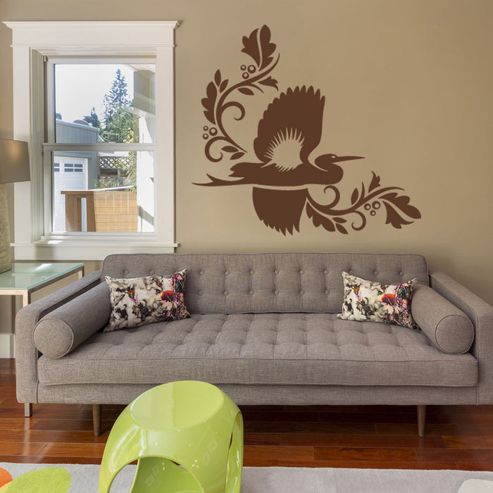 Crane Wall Decal