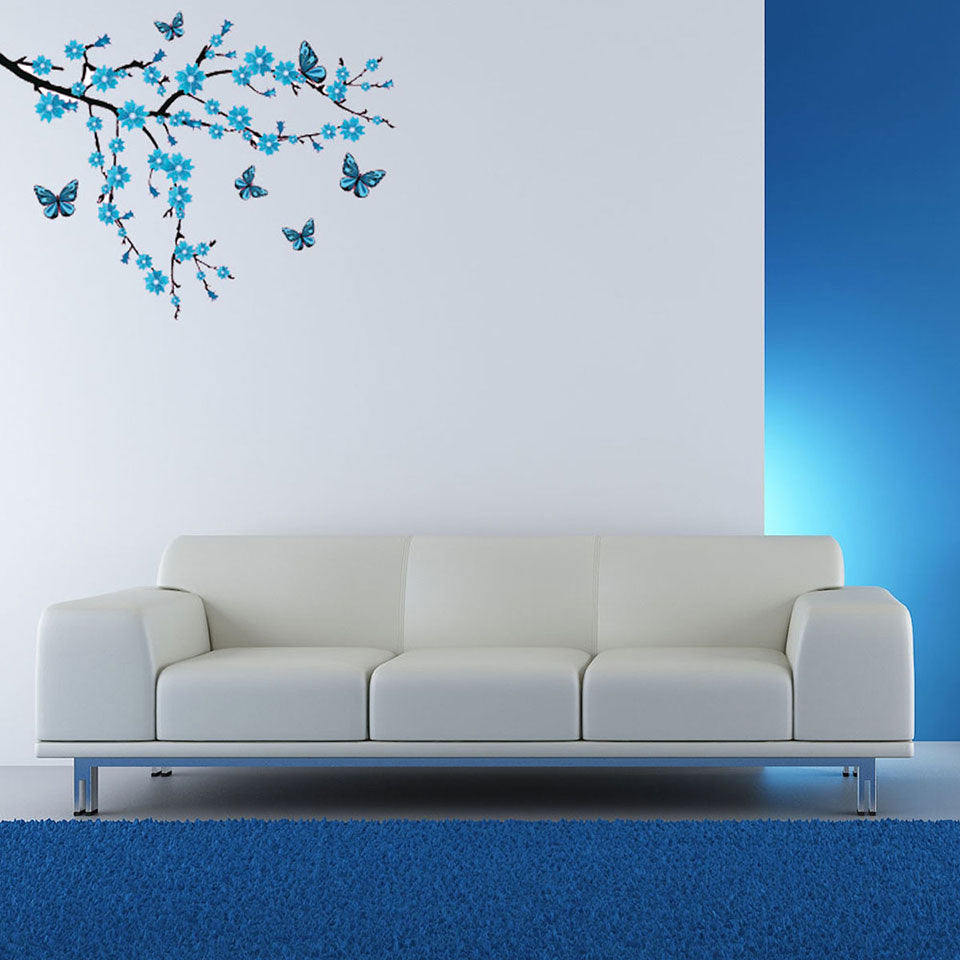 Butterflies and Branch-Wall Decal Stickers-Style and Apply