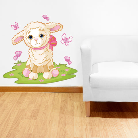 Little Lamb-Wall Decal Stickers-Style and Apply