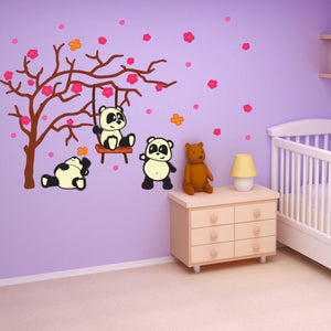 Panda Friends Sticker-Wall Decal Stickers-Style and Apply