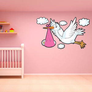 Stork Wall Decal-Wall Decal Stickers-Style and Apply