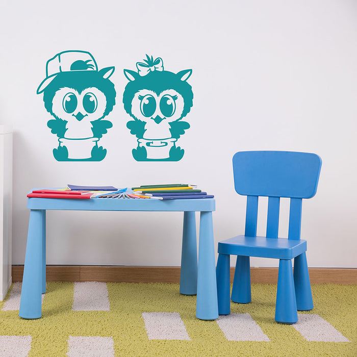 Diaper Owls Wall Decal
