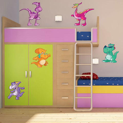 Funny Dinosaur Wall Sticker Set for Nursery