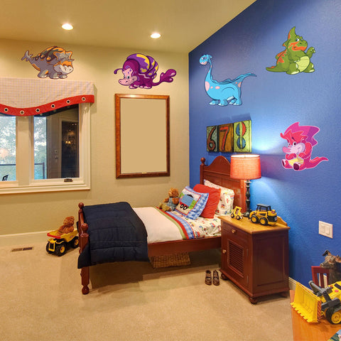 Dinosaur Wall Decal Set for Nursery