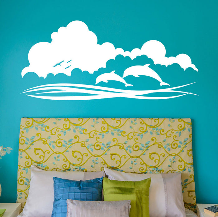 Dolphin Sky Wall Decals