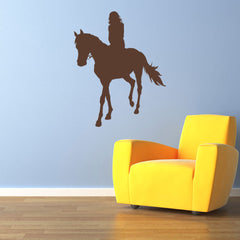 Girl on Horse Wall Decal