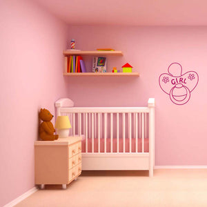 Girl's Comforter Wall Decal