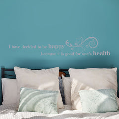 Happy Health-Wall Decal