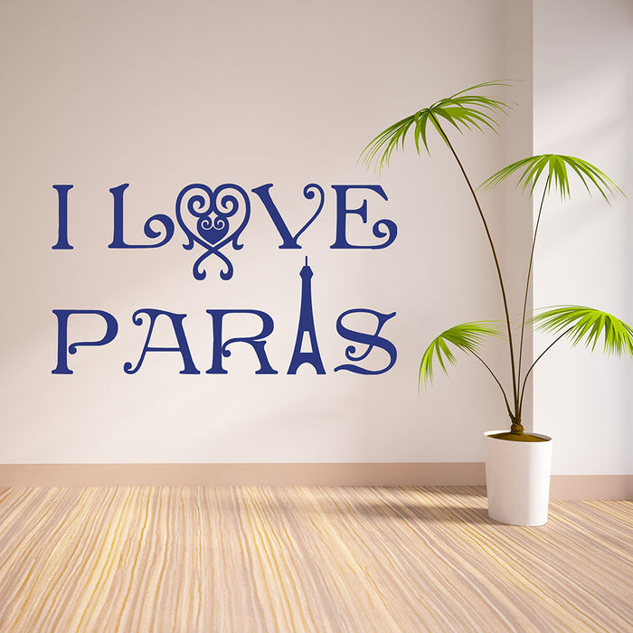 I love Paris II Wall Decal