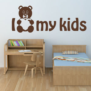 I Love my Kids Wall Decal