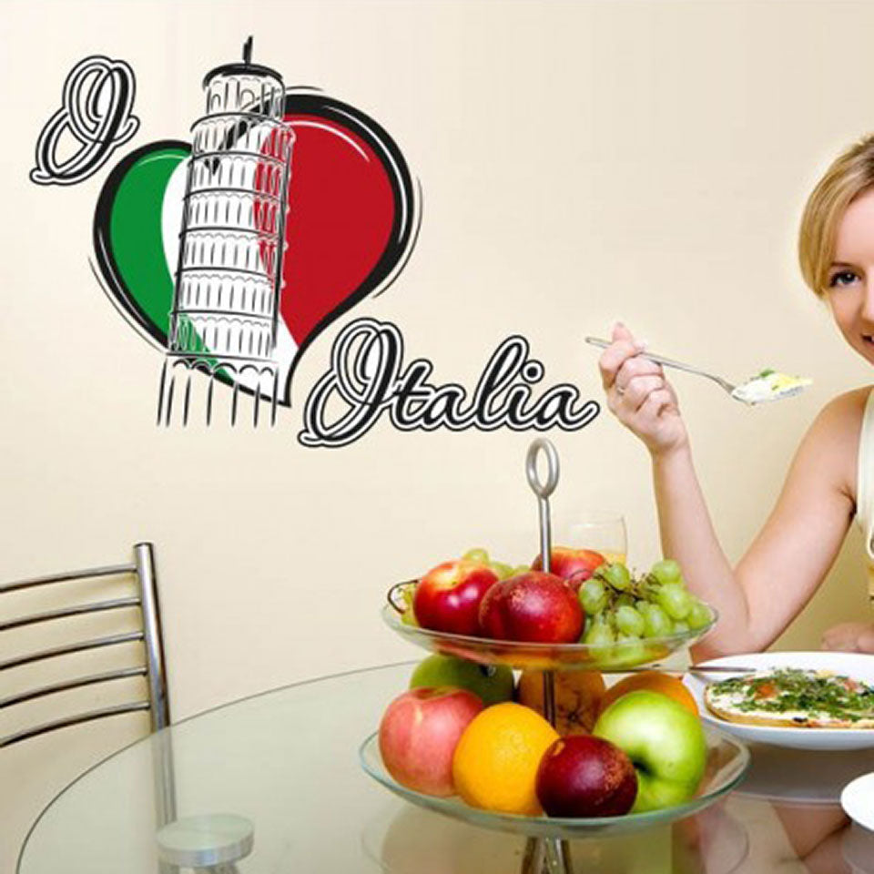 I Love Italia Wall Decal