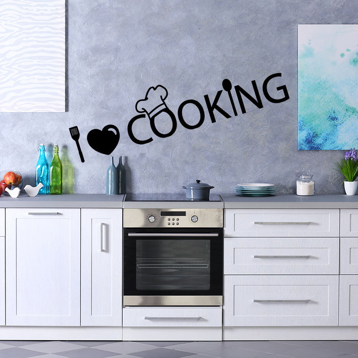 I Love Cooking Wall Decal