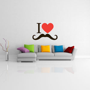 I Love Moustache-Wall Decal Sticker