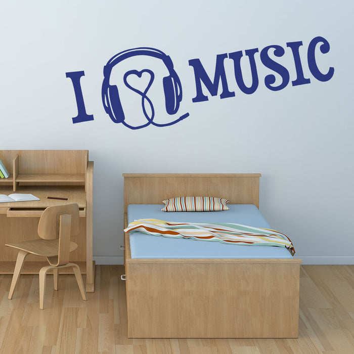I Love Music Wall Decal
