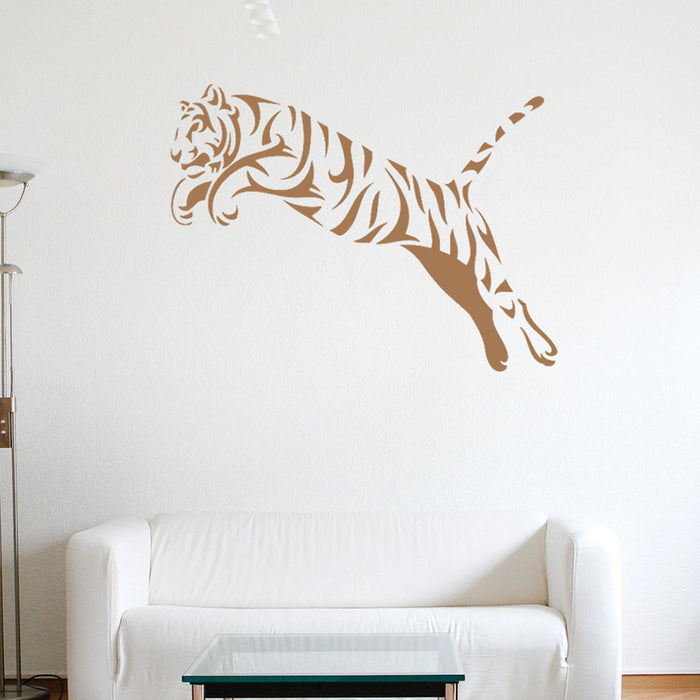 Leaping Tiger Wall Decal