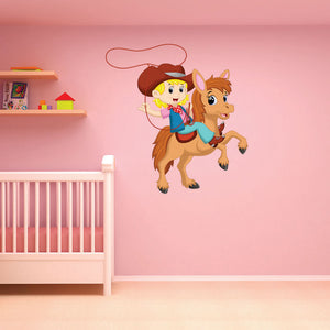 Little Cowgirl Wall Decal