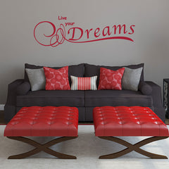 Live your Dreams-Wall Decal quote