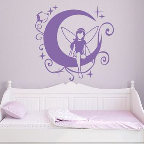 Moon Fairy II Wall Decal-Wall Decals-Style and Apply