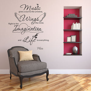 Music Gives Soul Wall Decal