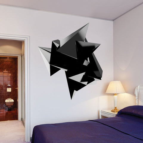 Onyx Pyramids Wall Decal