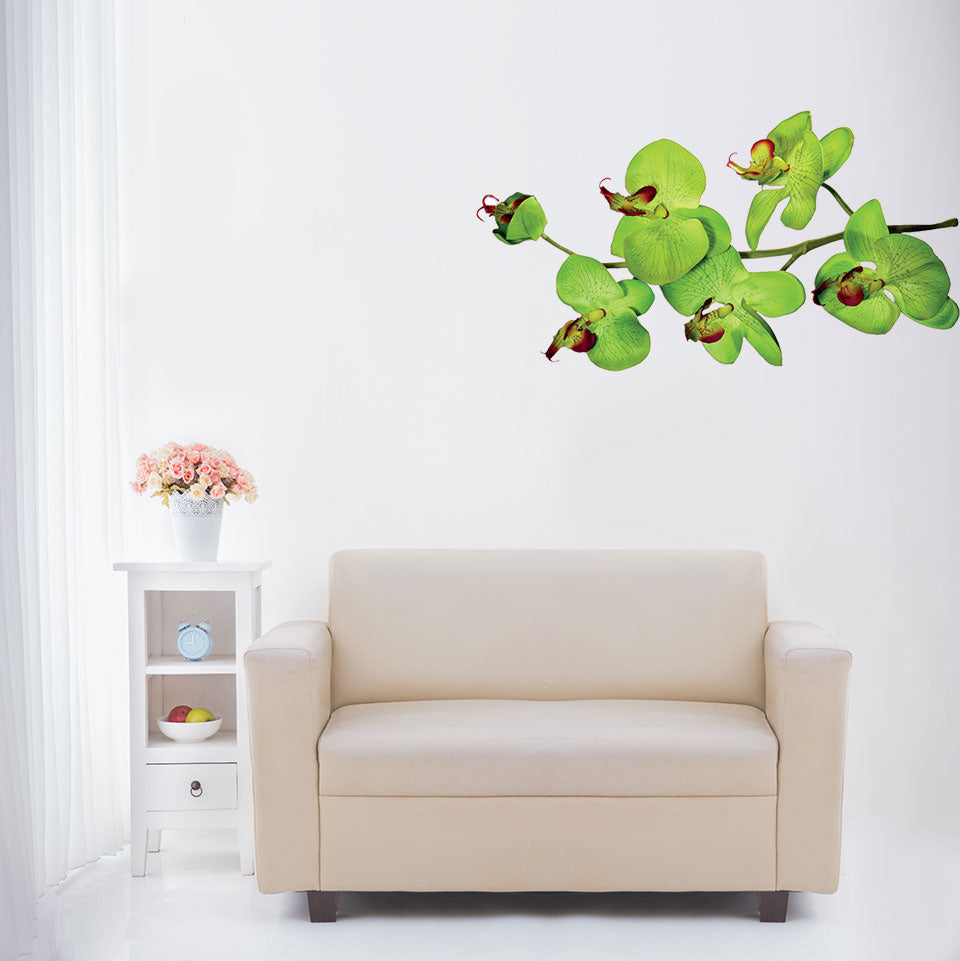 Orchid Branch Wall Decal