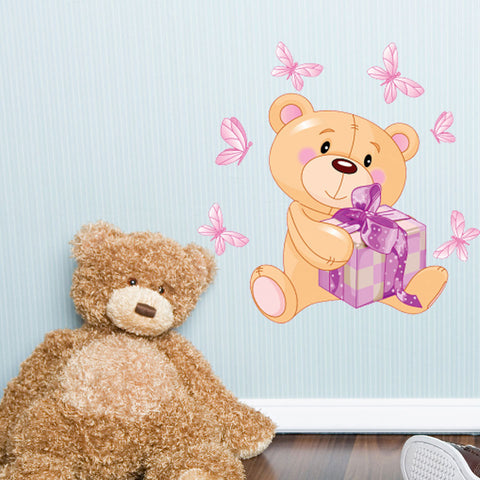 Teddy-Wall Decal Stickers-Style and Apply