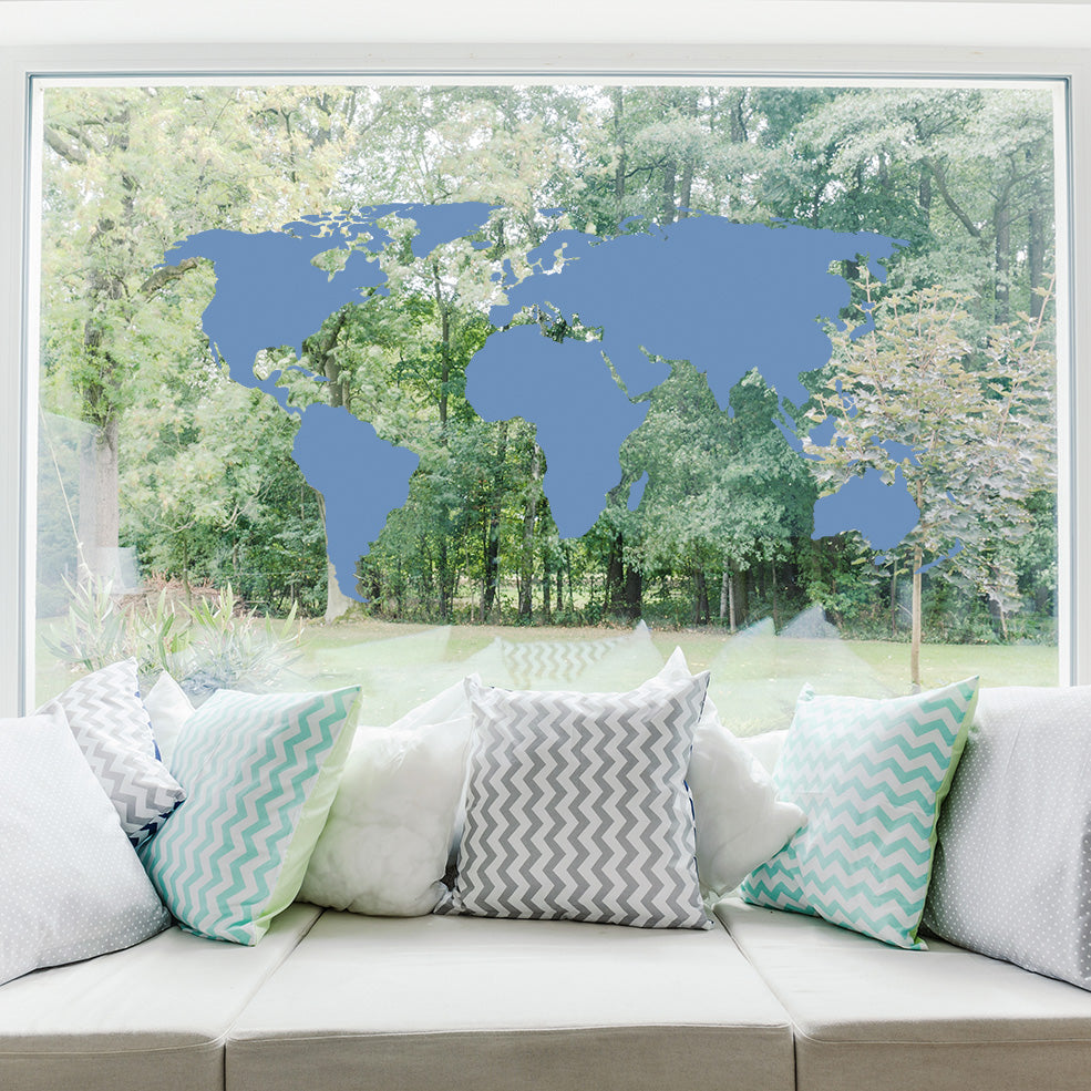World map decal for glass style and apply world map for glass window decals style and apply gumiabroncs Choice Image
