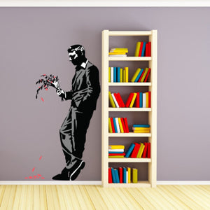 A Late Date Banksy Wall Decal Sticker-Wall Decal Stickers-Style and Apply
