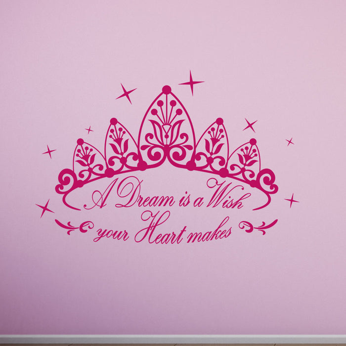 A Dream Wall Decal Quote