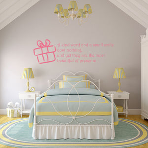 A Kind Word-Wall Decal quote