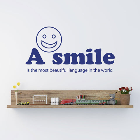 A Smile wall quote