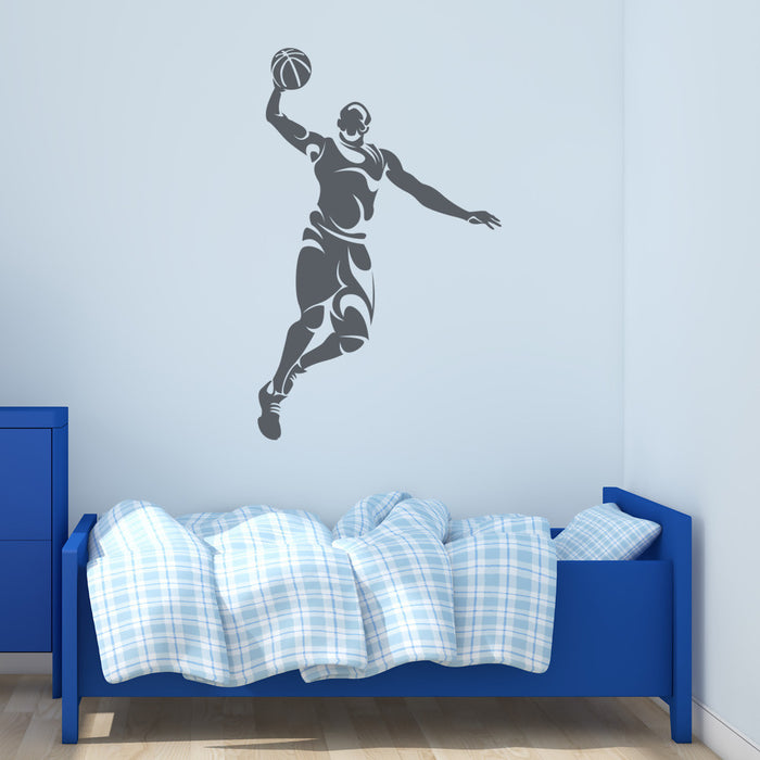Abstract Basketball Player Wall Decal