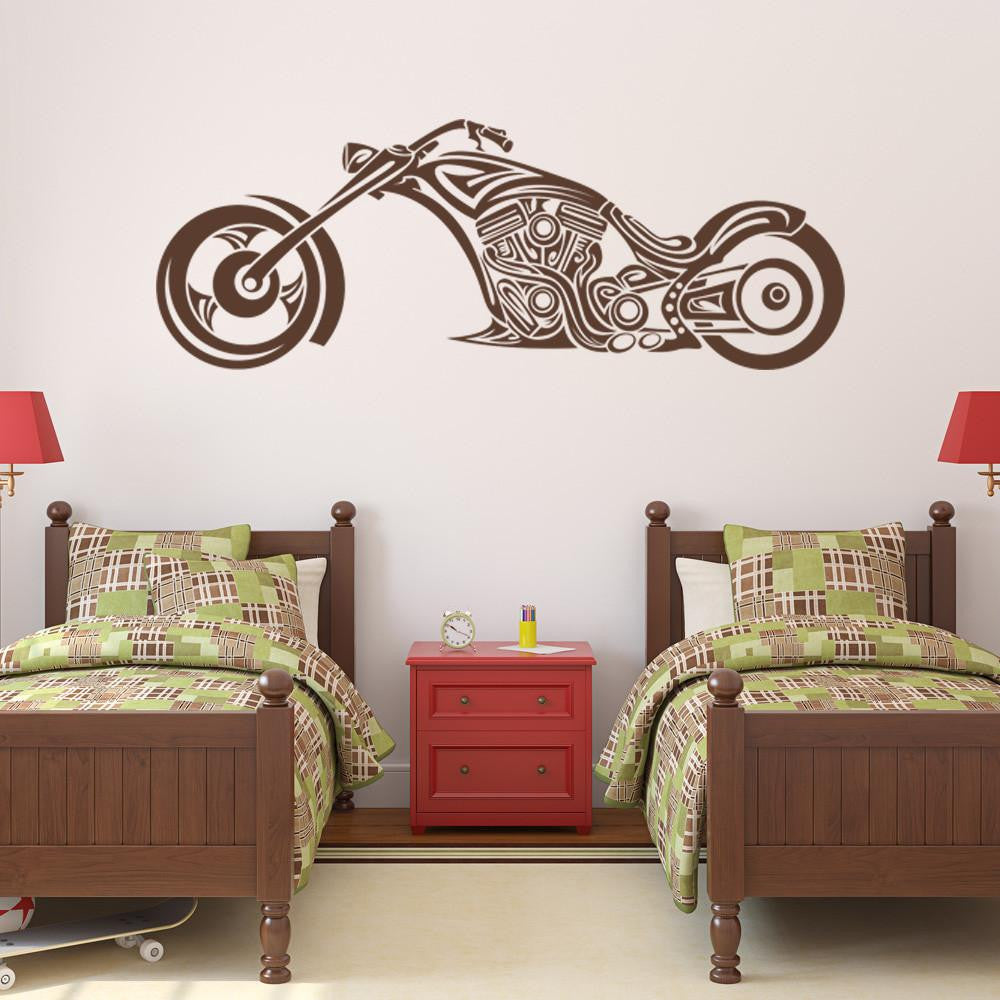 Abstract Chopper Wall Decal