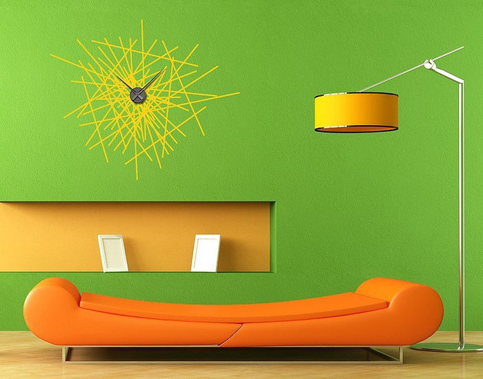 Abstract Wall Decal Clock