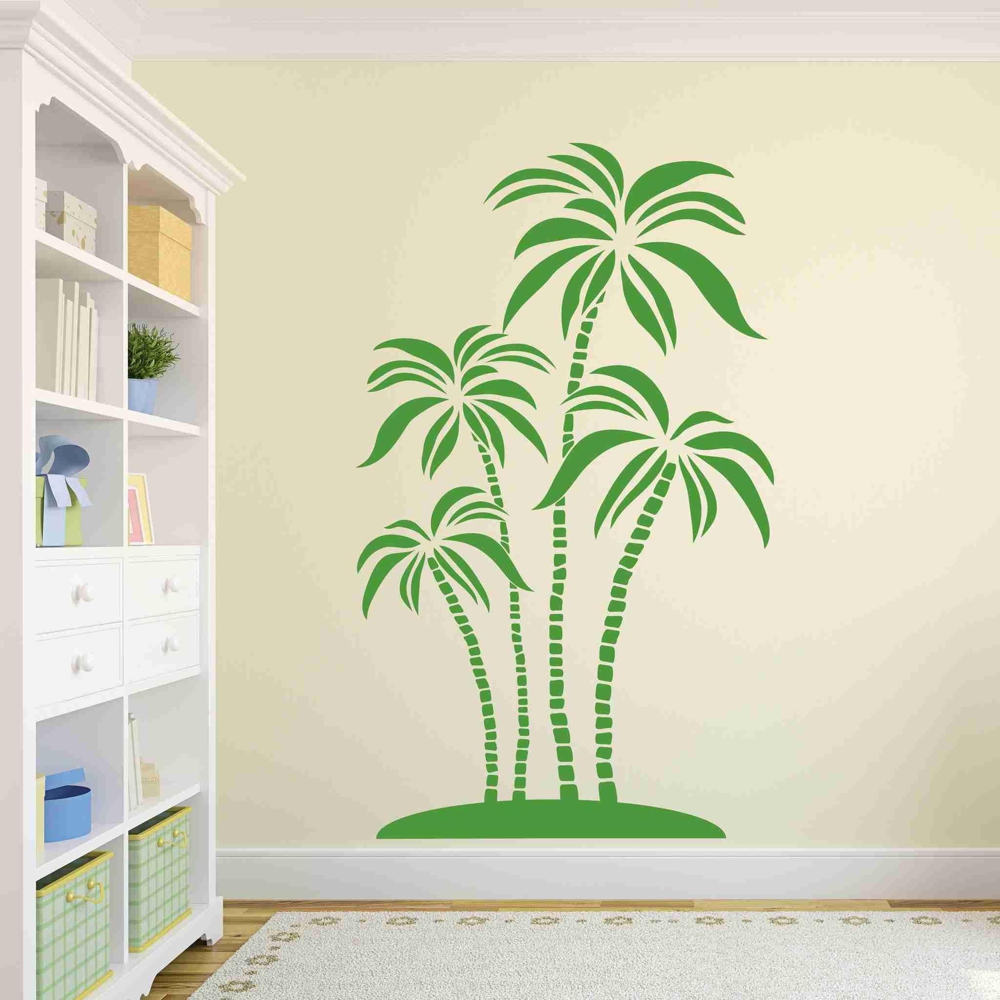 Abstract Palms Wall Decal