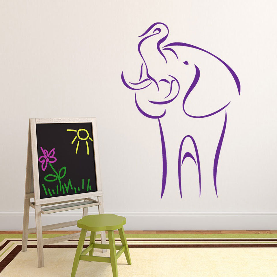 Abstract Elephant Wall Decal