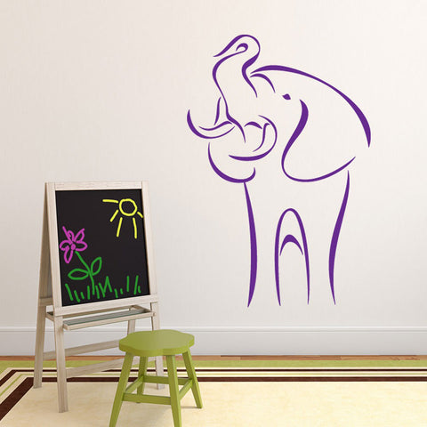 Abstract Elephant-Wall Decal