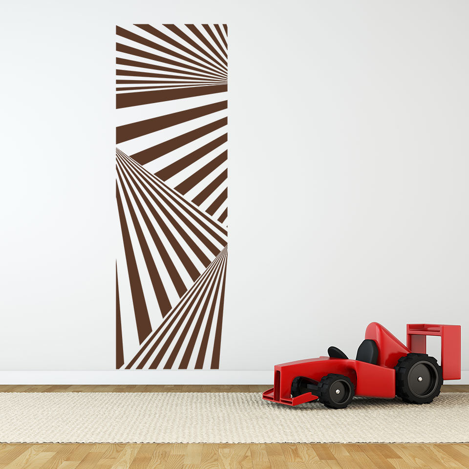 abstract stripes wall decal