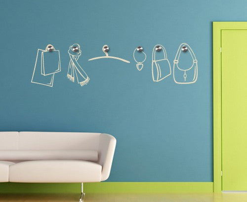 Accessories Wall Decal Hanger