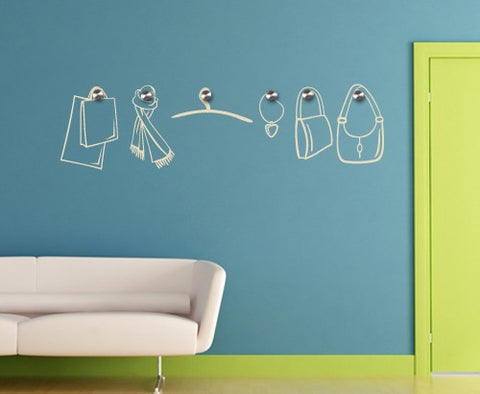 Accessories-Wall Decal Hangers-Style and Apply