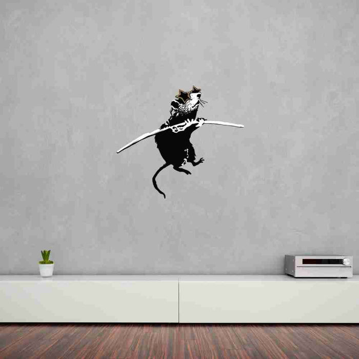 Acrobat Rat With Shades Banksy Wall Decal Sticker