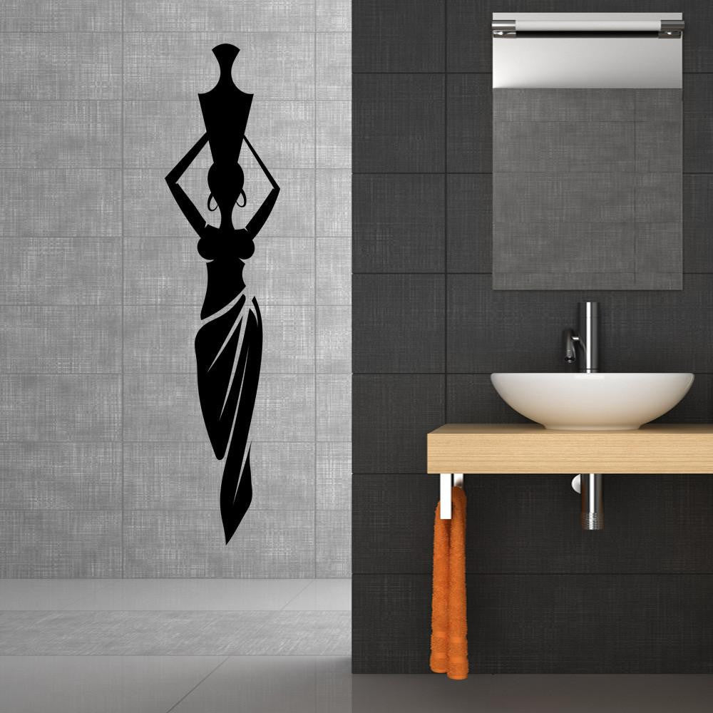African Lady with Vase Wall Decal