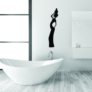 African Woman Wall Decal-Wall Decals-Style and Apply